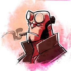 Hellboy Sketch by DerekLaufman