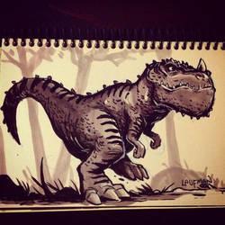 Inktober Day 29 - Dinosaur! by DerekLaufman
