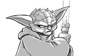 Yoda quick sketch by DerekLaufman