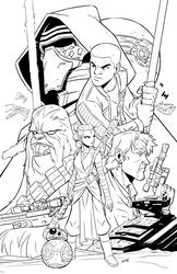 Force Awakens Inks by DerekLaufman