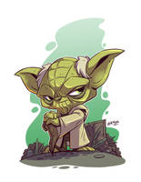 Chibi Yoda by DerekLaufman