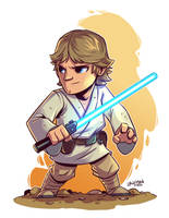 Chibi Luke Skywalker by DerekLaufman