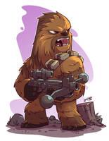 Chibi Chewie by DerekLaufman