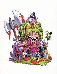Inktober Day 01 - I hate fairyland by DerekLaufman