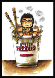 Cup Noodle Man by Marvolo-san