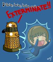 Dalek vs Bieber by KimYoshiko