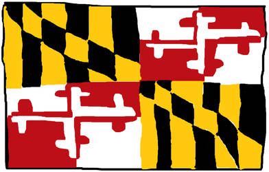My Flag of Maryland Drawing by CuteCatsMaryland