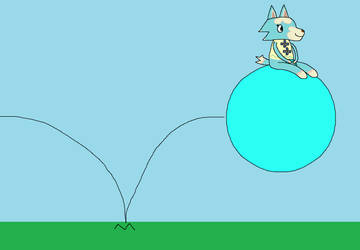 Request: Skye Bouncing on a Space Hopper by CuteCatsMaryland