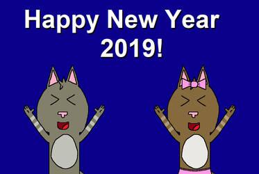 Happy New Year 2019! by CuteCatsMaryland