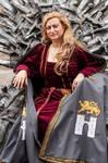 Genna on the throne by CalamityJade
