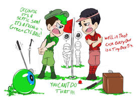conflict on the golf course by HiImThatGuy