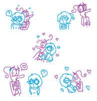 FearXSadness Doodles by SonicFazbear15