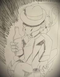Inktober (Day 18) ~ Bottle by SonicFazbear15