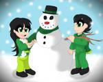~Building a Snowman Together~ by SonicFazbear15