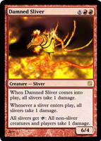 Damned Sliver Card by chrosis