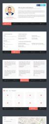 Flat vCard Template (PSD) by PSDchat