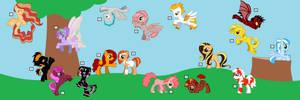 Pony Adoptables 2 by Yume-The-Lynx