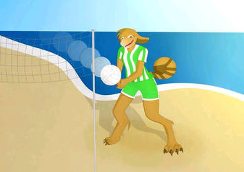 Green Team Voleyball by SelesaRey