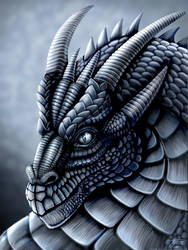 Steel Dragon Portrait by DragonosX