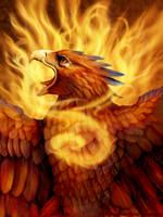 Phoenix portrait by DragonosX