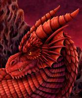 Red Dragon Portrait by DragonosX