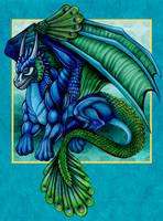 Peacock Dragon by DragonosX