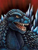 Godzilla Portrait by DragonosX