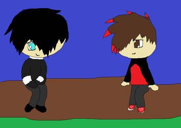 runner and Buddy by SecretaSa
