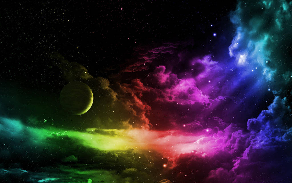 9384-space-in-rainbow-colors-sky-wallpapers 1920x1 by DarkEagle2011