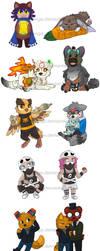 .Mixed Fandoms: May cons badges.+ by Kintanga