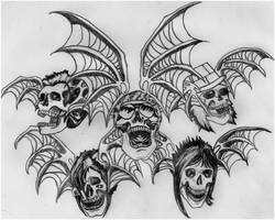 Avenged Sevenfold Deathbats by natarlee