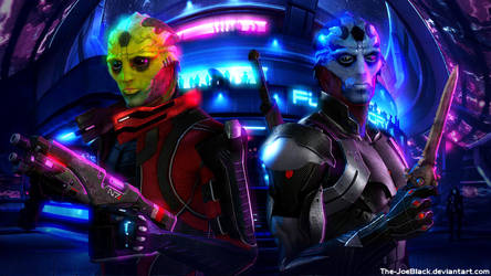 Mass Effect - Thane and Ekram by ShaunsArtHouse