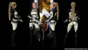 Mass Effect Occitania - Tatiana Cerberus by ShaunsArtHouse