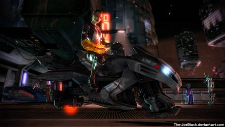 Mass Effect - Jack on Omega by ShaunsArtHouse