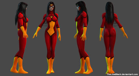 Spider-Woman - Gemma Arterton custom 3D model by ShaunsArtHouse