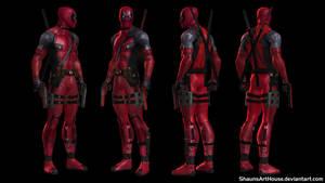 Deadpool Ryan Reynolds movie custom 3D model by ShaunsArtHouse
