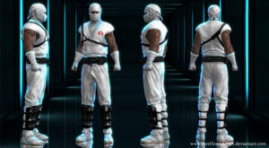 G.I.Joe Storm Shadow custom 3D model for XNALara by ShaunsArtHouse
