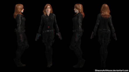 Scarlett Johansson Black Widow CW custom 3D model by ShaunsArtHouse
