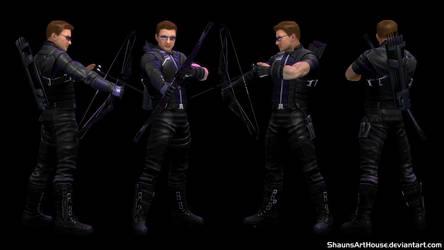 Hawkeye Civil War - Jeremy Renner custom 3D model by ShaunsArtHouse