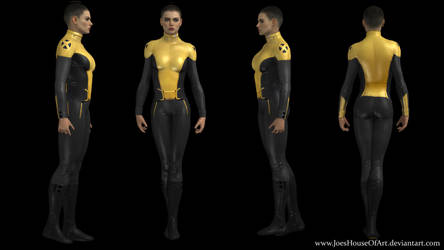Negasonic Teenage Warhead movie custom 3D model by ShaunsArtHouse