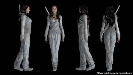 Jessica Henwick - Colleen Wing custom 3d model by ShaunsArtHouse
