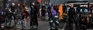 Mass Effect Occitania 2: Dual Screen Wallpaper by ShaunsArtHouse
