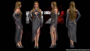 Mass Effect Occitania 2: Belladonna Dress by ShaunsArtHouse