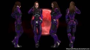 Mass Effect Occitania 2: Kat Heleus Armour by ShaunsArtHouse
