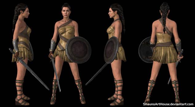Wonder Woman Gal Gadot - Amazon by ShaunsArtHouse