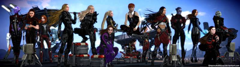 Mass Effect Occitania 2: The Women of Occitania by ShaunsArtHouse