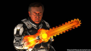 Mass Effect Occitania 2 - Elvis Williams' Omnisaw by ShaunsArtHouse