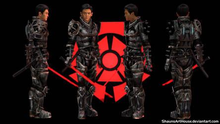Mass Effect Occitania 3 - Law: Shinja by ShaunsArtHouse