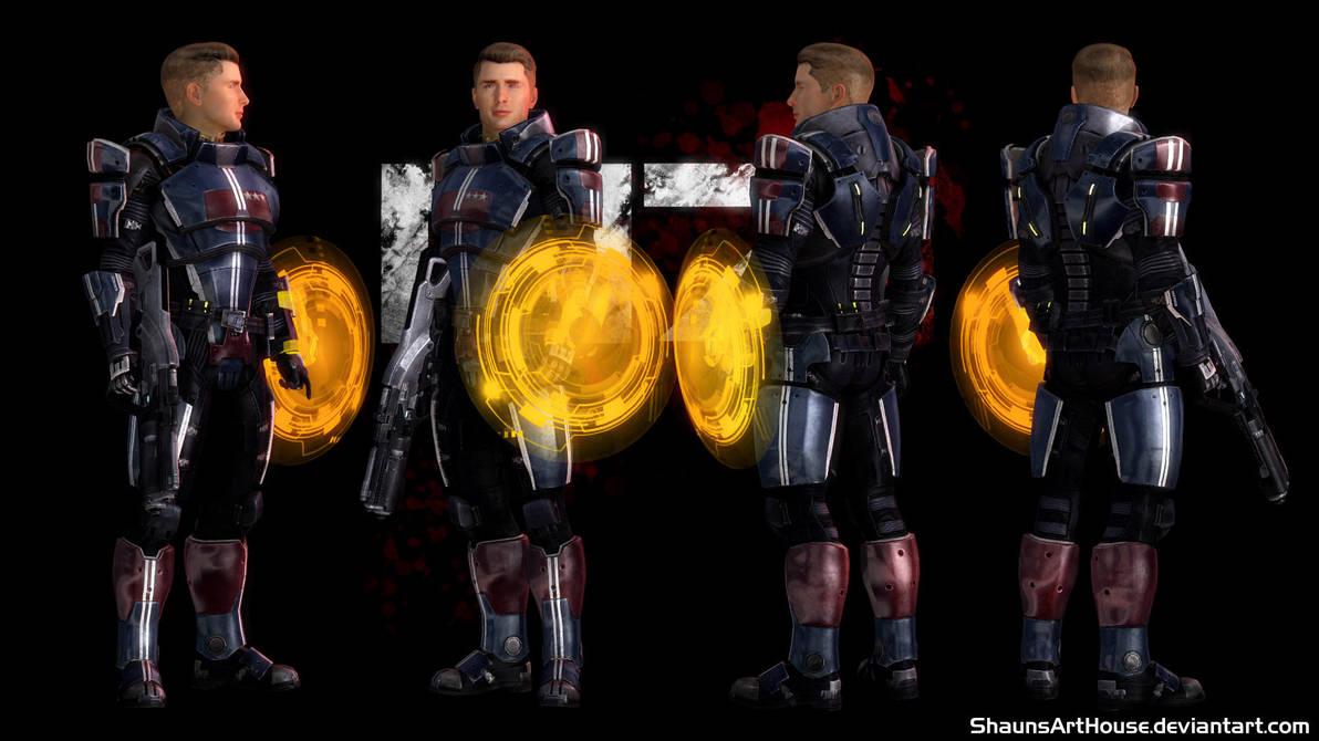 Mass Effect Occitania 3 - Captain Flynn by ShaunsArtHouse