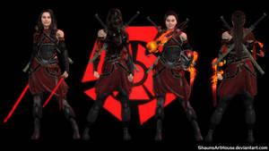 Mass Effect Occitania 3 - Justice Shinja by ShaunsArtHouse